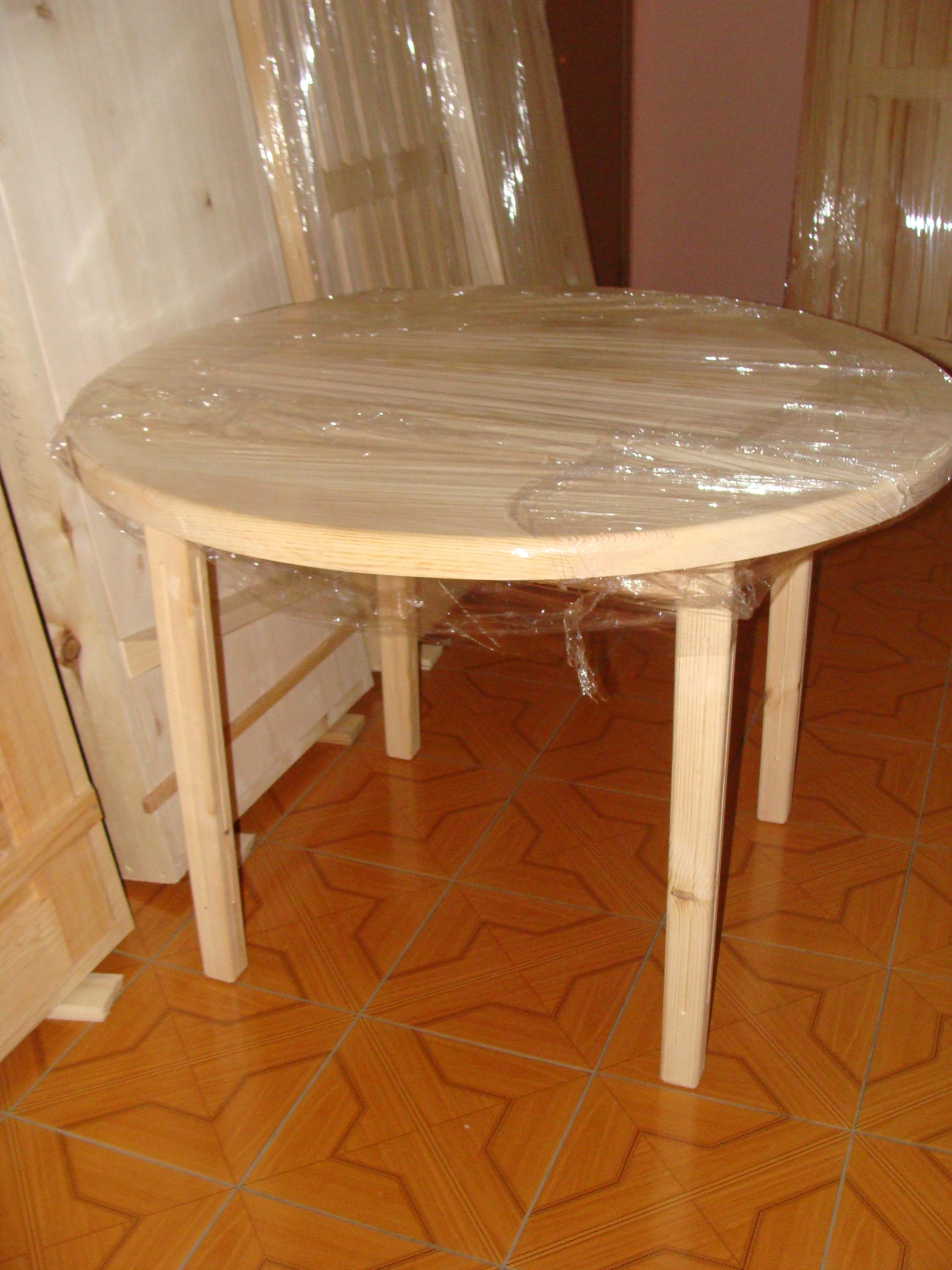 Как сделать круглый стол из дерева своими руками для дачи